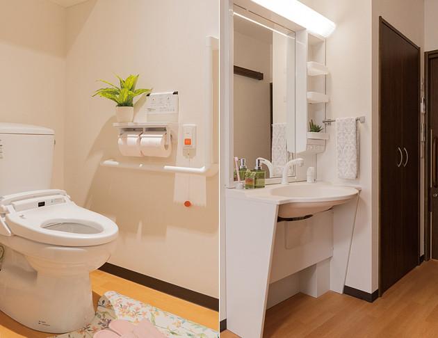 リアンレーヴ入間中央(介護付有料老人ホーム(一般型特定施設入居者生活介護))の画像(15)居室トイレ/洗面