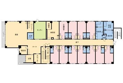 そんぽの家溝の口(介護付有料老人ホーム)の画像(8)見取り図