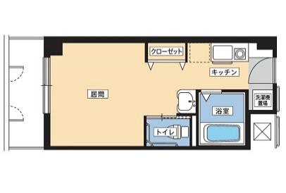 そんぽの家S川崎観音(サービス付き高齢者向け住宅)の画像(8)居室の図面です。