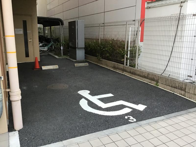 そんぽの家S井荻(サービス付き高齢者向け住宅)の画像(12)福祉車両駐車場