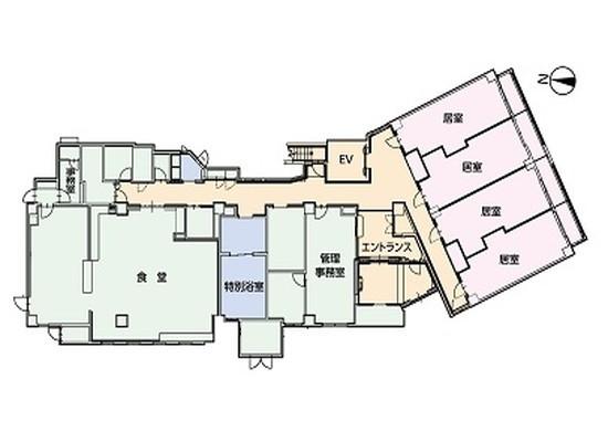 そんぽの家S江古田(サービス付き高齢者向け住宅)の画像(9)館内図