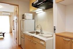 そんぽの家S柏高柳(サービス付き高齢者向け住宅)の画像(5)居室キッチン