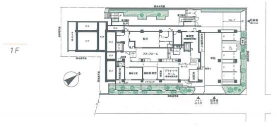 介護付有料老人ホーム 東急ウェリナケア尾山台(介護付有料老人ホーム)の画像(23)平面図1階