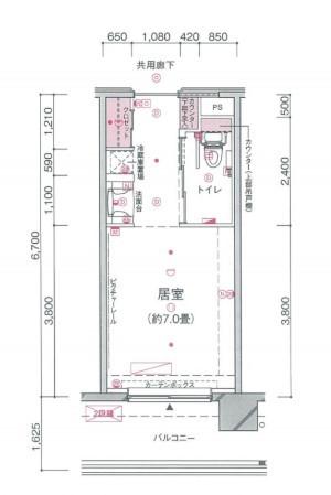 介護付有料老人ホーム 東急ウェリナケア尾山台(介護付有料老人ホーム)の画像(27)居室間取り