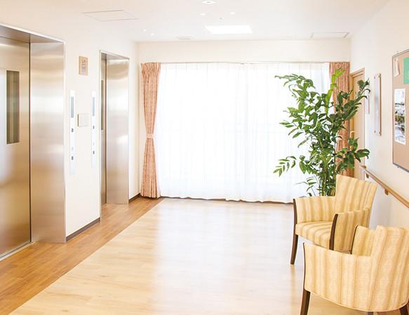 リアンレーヴ流山(サービス付き高齢者向け住宅)の画像(11)エレベーターホール