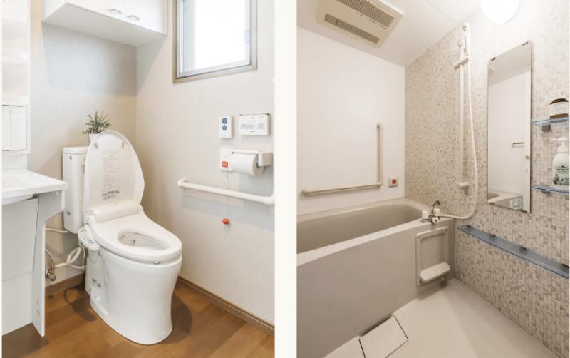 エイジフリーハウス南烏山 (サービス付き高齢者向け住宅)の画像(3)トイレ・浴室