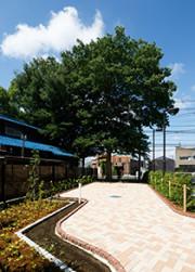 ライブラリMum草加(サービス付き高齢者向け住宅(一般型特定施設入居者生活介護))の画像(15)敷地内庭園