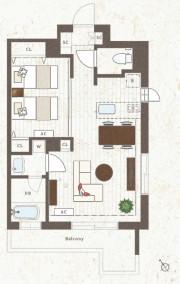 グランジュール尾山台(サービス付き高齢者向け住宅)の画像(13)居室図面②