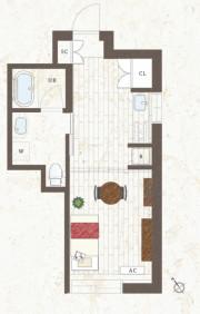 グランジュール尾山台(サービス付き高齢者向け住宅)の画像(12)居室図面①