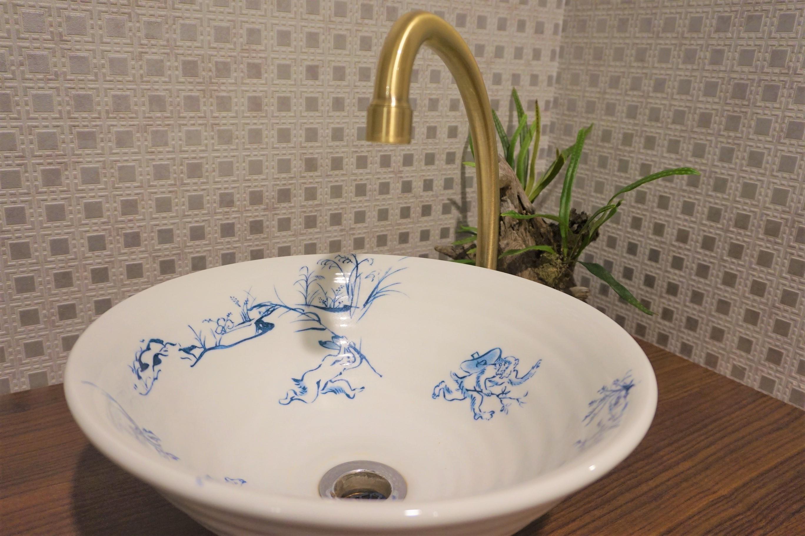 かわいらしい洗面台